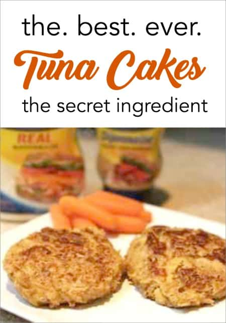 Tuna cake with secret ingredient