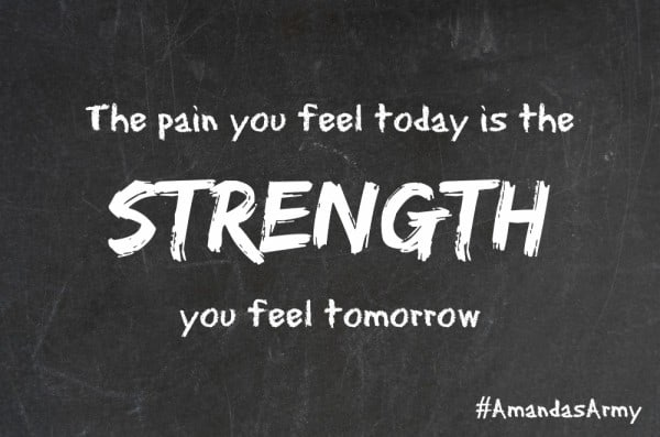 the pain you feel today is the strength you feel tomorrow #quote