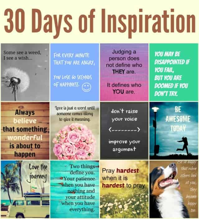 Inspirational Quotes On Pinterest: 30 Days Of Inspirational Quotes And Images