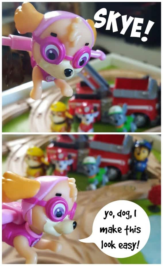 paw patrol skye fly collage