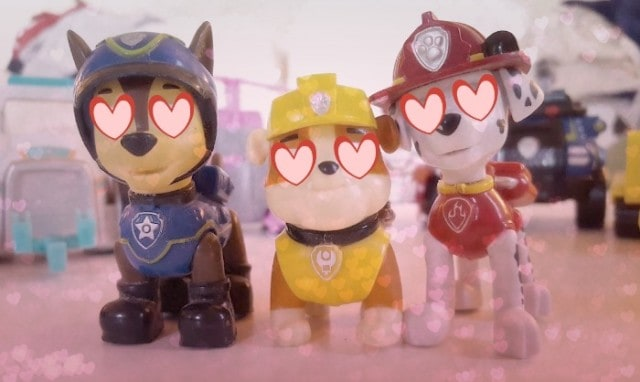 paw patrol in love