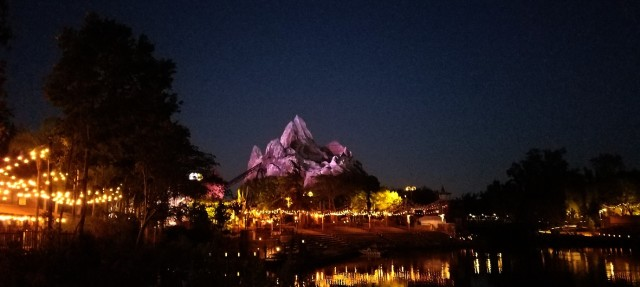 expedition everest at night disney animal kingdom