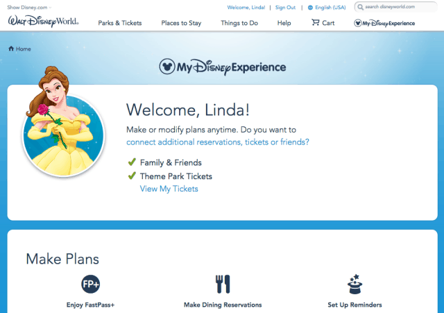 my disney experience plan trip