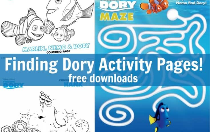 finding dory activity pages