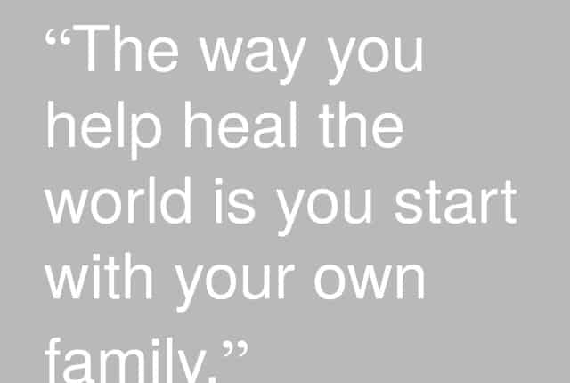 the way you help heal the world