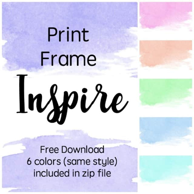 one word watercolor printable
