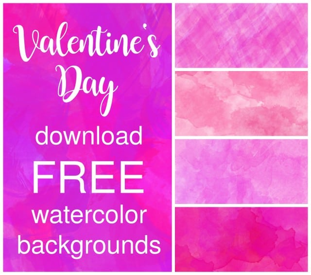 valentines day watercolor background pin