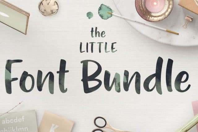 the little font bundle fontbundles.net