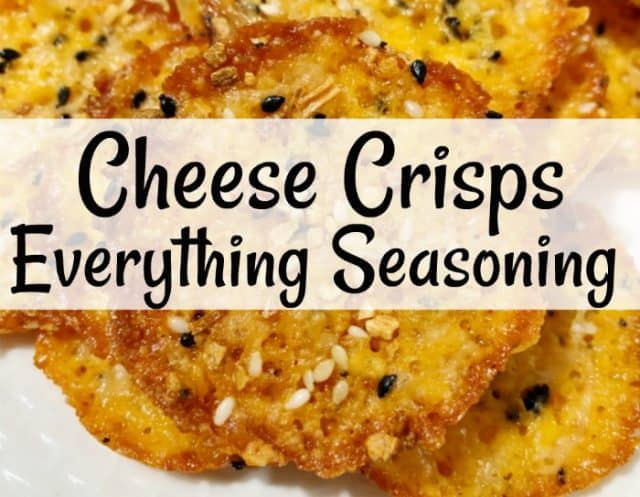 everything seasoning cheese crisps