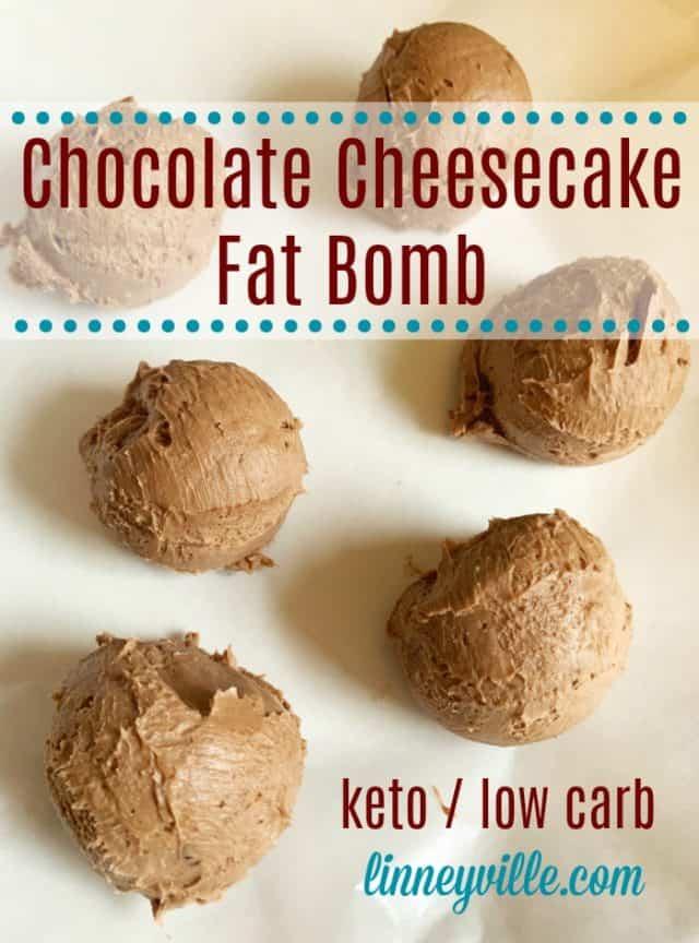 chocolate cheesecake fat bomb
