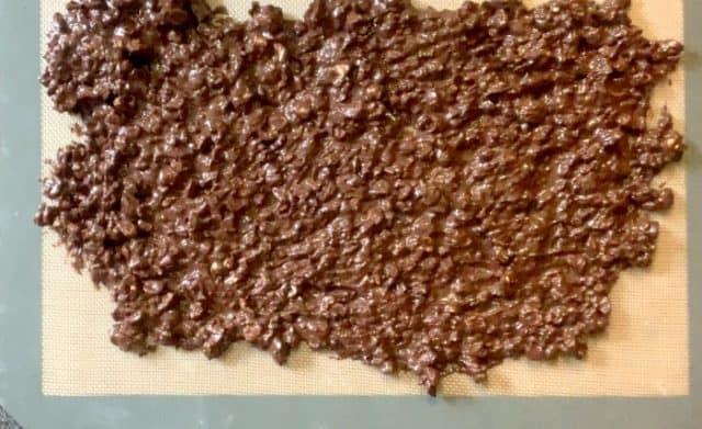 chocolate nut bark keto low carb on sheet