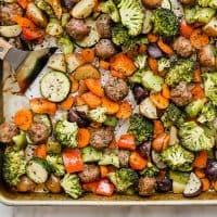 Sheet Pan Italian Sausage Vegetable Bake