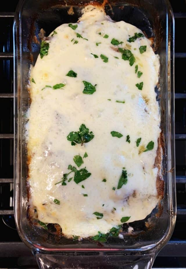 baked stuffed meatloaf keto