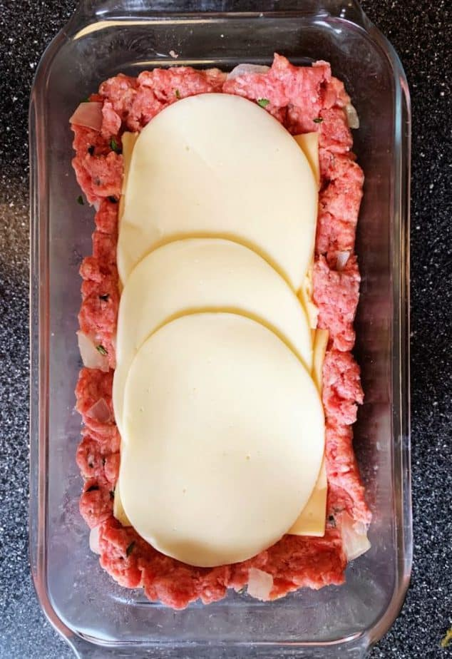 stuffing the meatloaf with cheese