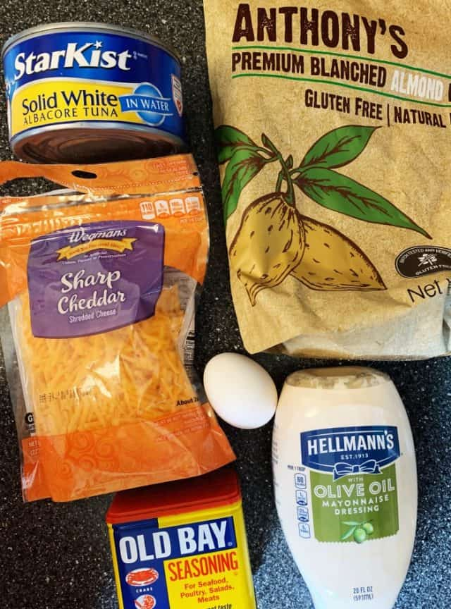 ingredients for keto tuna cakes