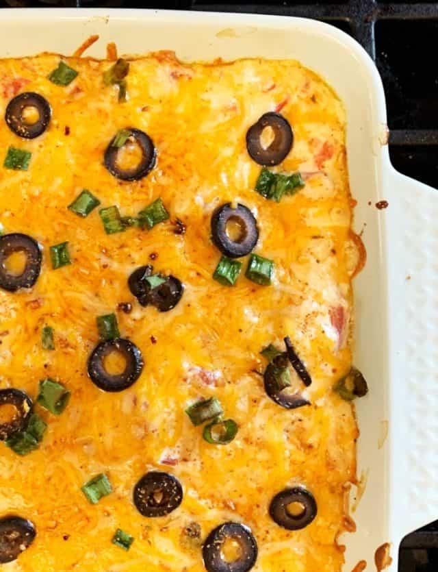 baked corner chicken taco casserole