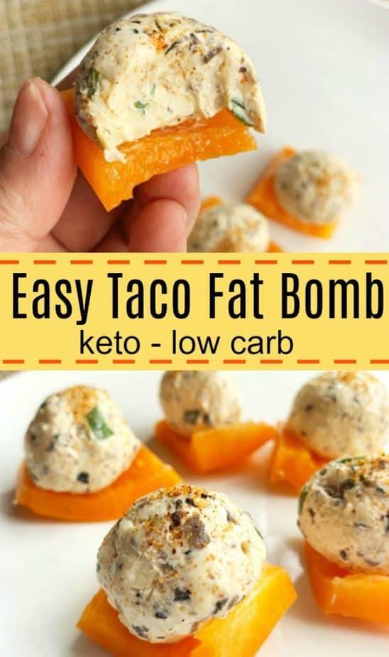 easy taco fat bomb pin