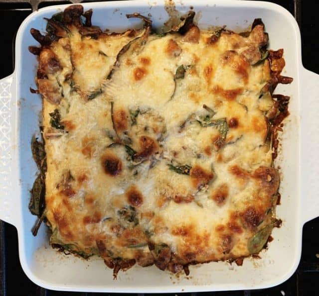 sausage spinach casserole