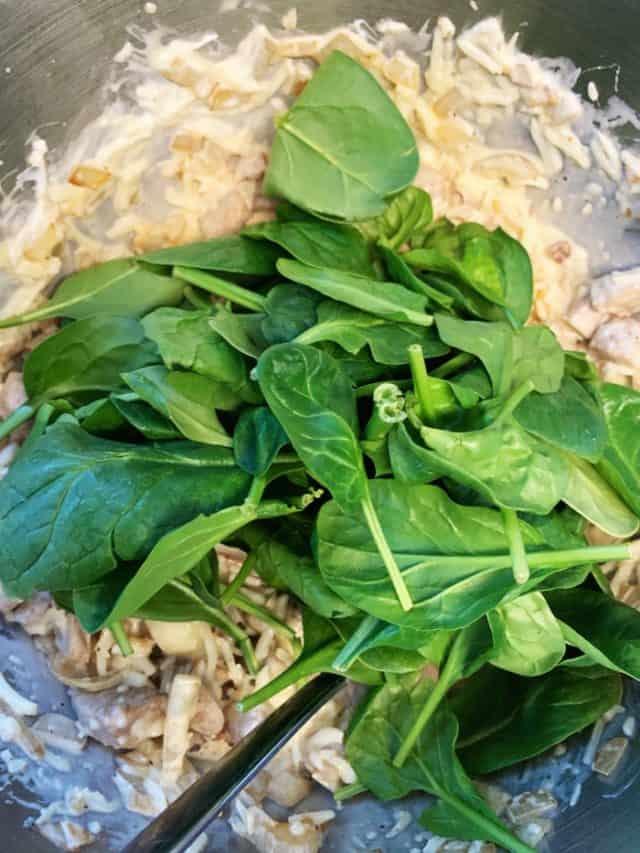 spinach ingredients sausage spinach casserole