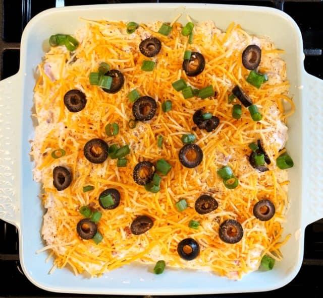 unbaked chicken taco casserole