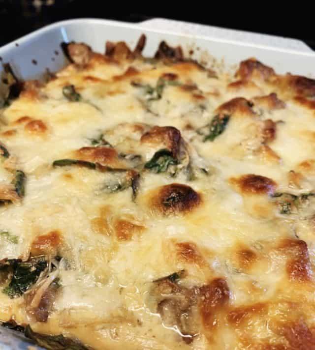 view spinach sausage casserole