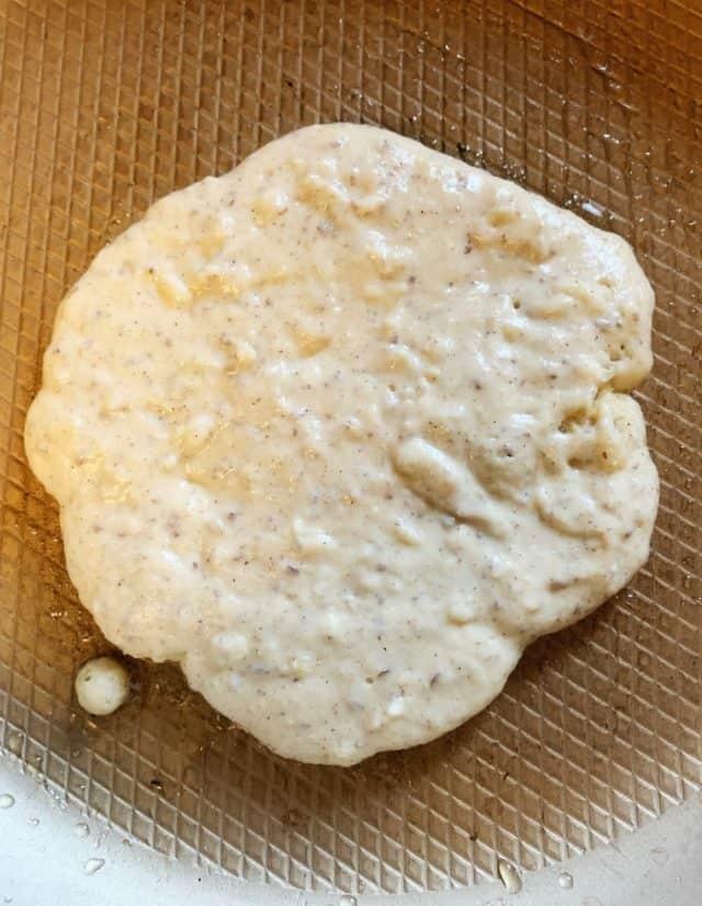 low carb pancake in pan