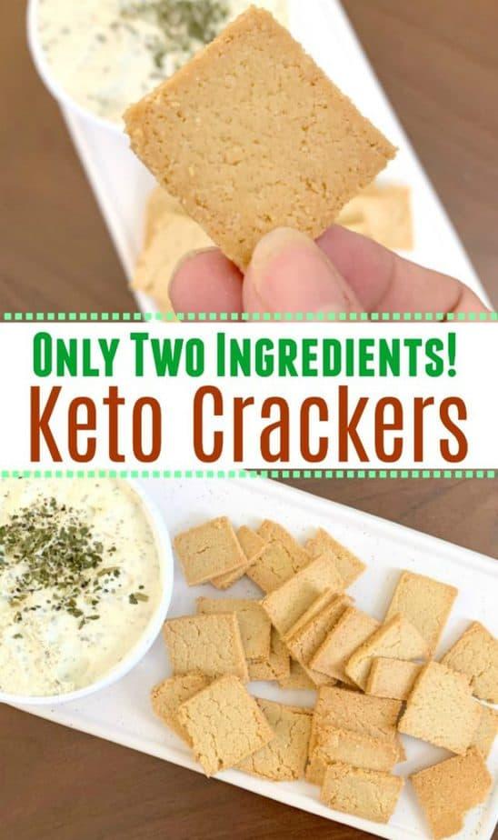 two ingredient keto crackers pin