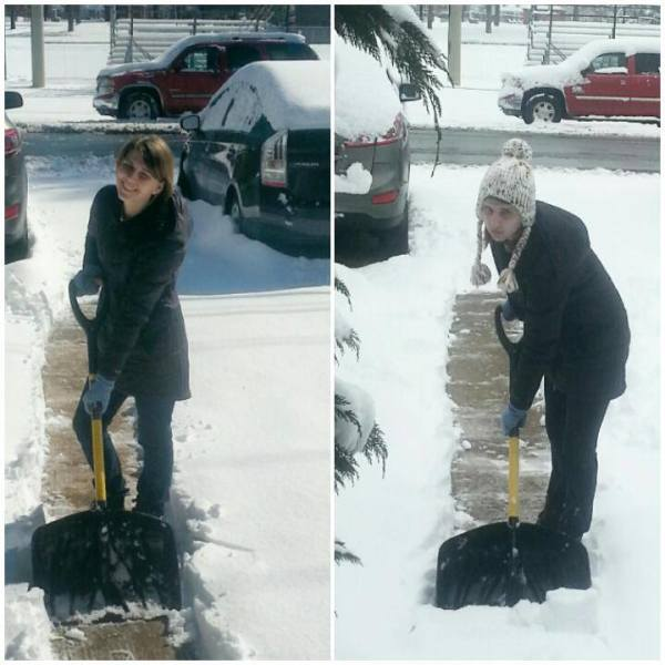 Maggie Shoveling Snow Richmond Va