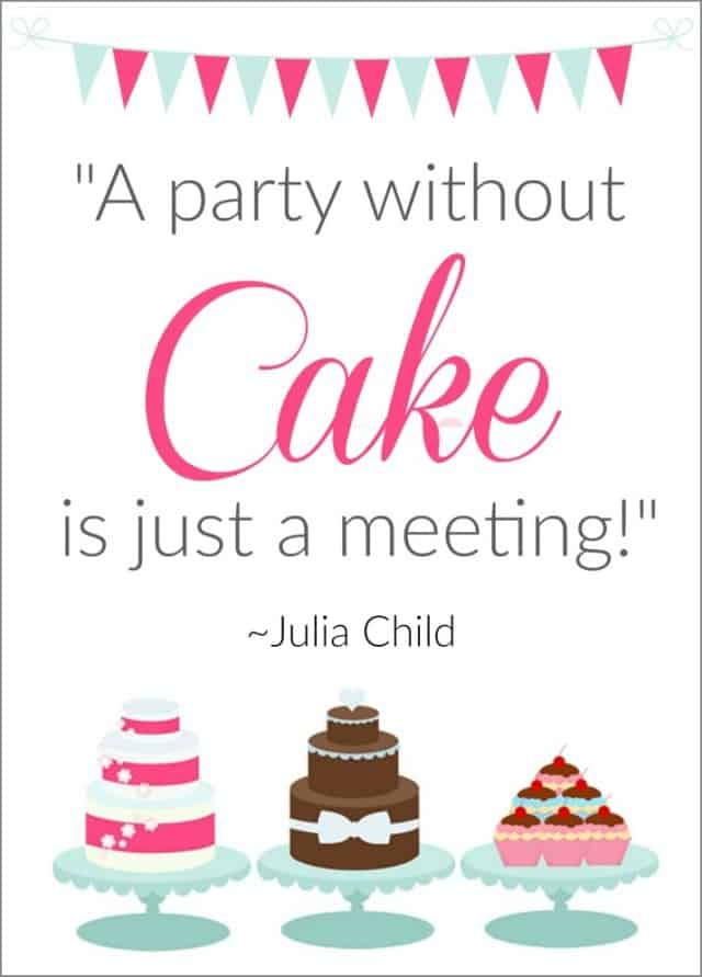 party without cake is just a meeting