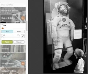 editing black & white pictures with PicMonkey photo effects