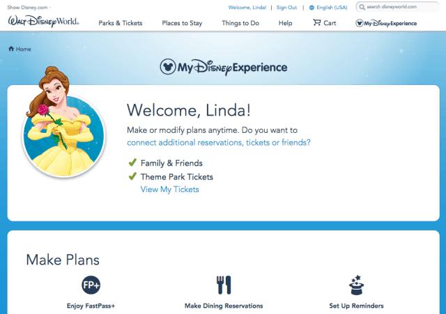 my disney experience plan trip