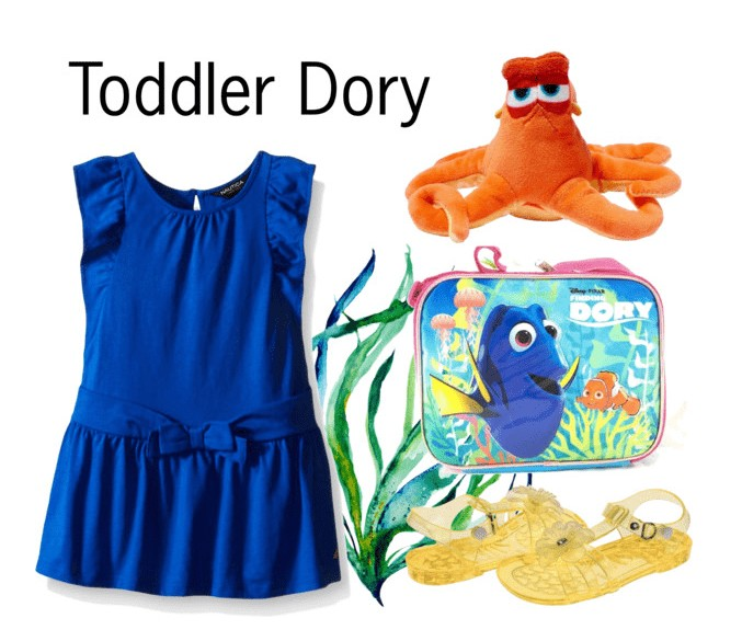 Finding Dory toddler girl inspired outfit