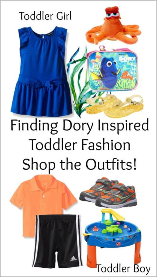 Finding Dory inspired toddler outfits
