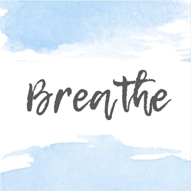 blue breathe printable