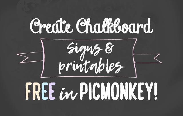 create chalkboard sign in picmonkey
