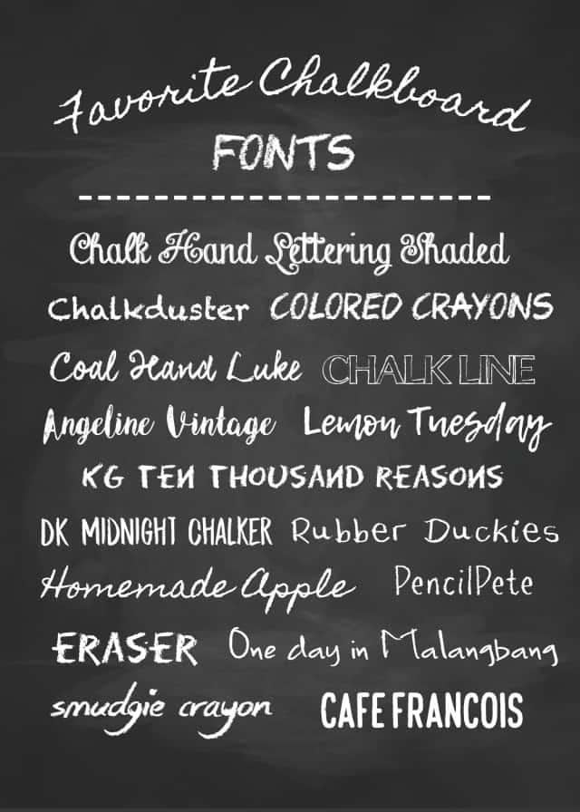 big list of free chalkboard fonts