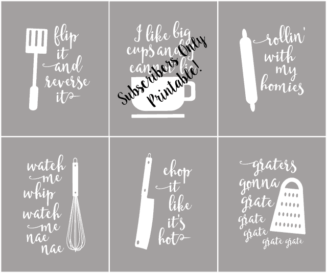 picture regarding Kitchen Printable referred to as Amusing Kitchen area Printables that are Puntastic - Linneyville