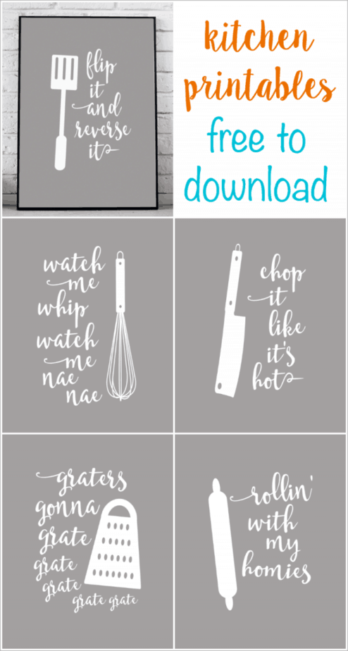 image about Kitchen Printable titled Amusing Kitchen area Printables that are Puntastic - Linneyville