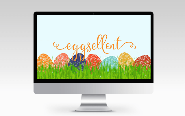 easter egg garden background