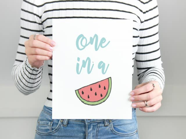 one in a melon printable image