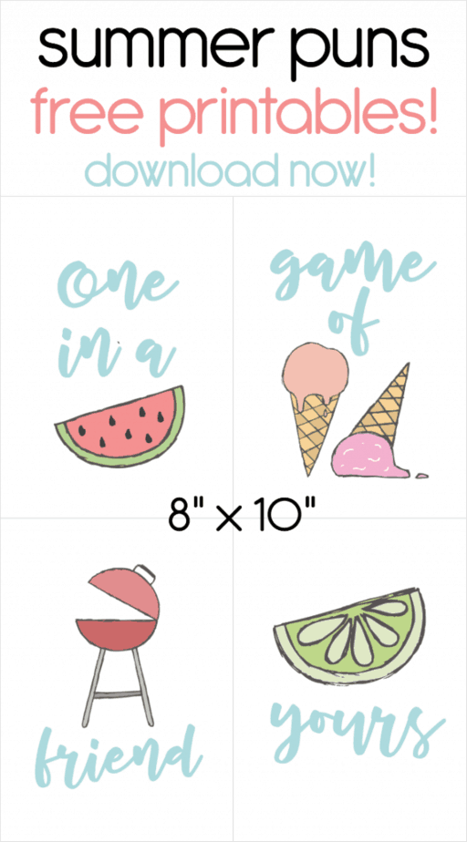 summer pun printable pin