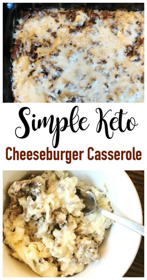 easy cheeseburger casserole keto low carb
