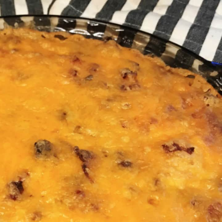 Keto Bacon Cheeseburger Pie with Carbquik