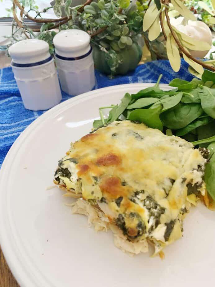 Chicken Spinach Artichoke Casserole - Keto