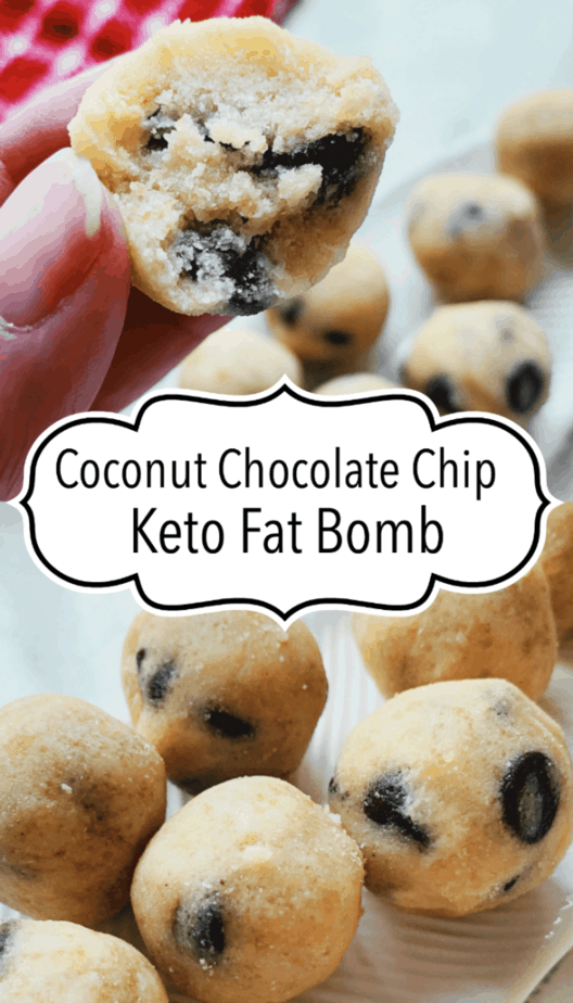 coconut chocolate chip fat bomb pin
