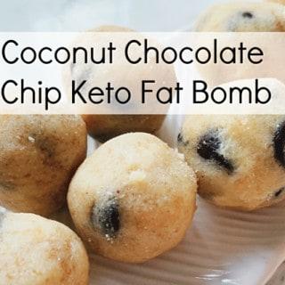 Coconut Chocolate Chip Fat Bomb - Keto