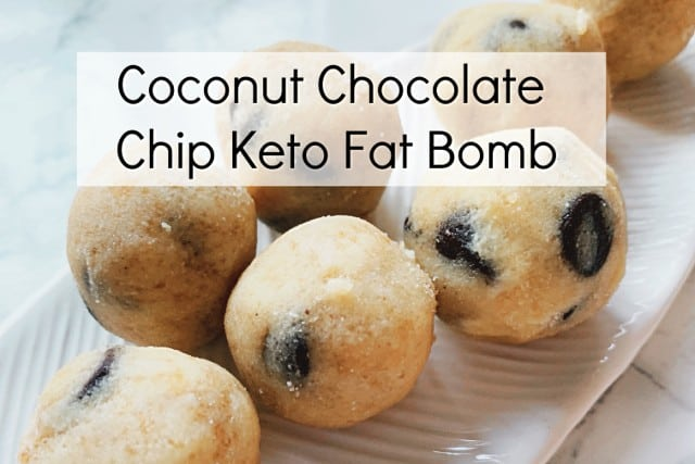 coconut chocolate chip fat bomb