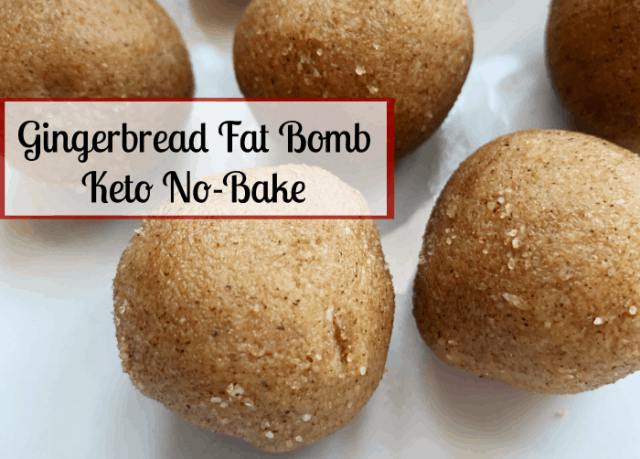 keto no back gingerbread fat bomb