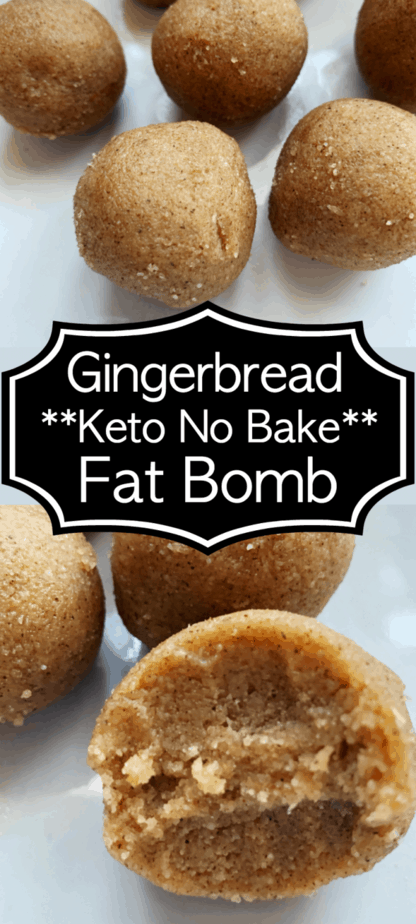 keto no bake gingerbread fat bomb
