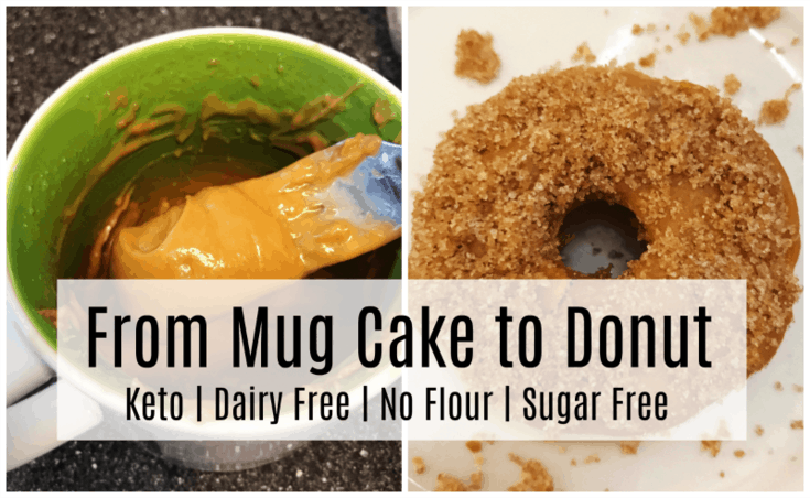 Nut Butter Donut Made with Keto Mug Cakes